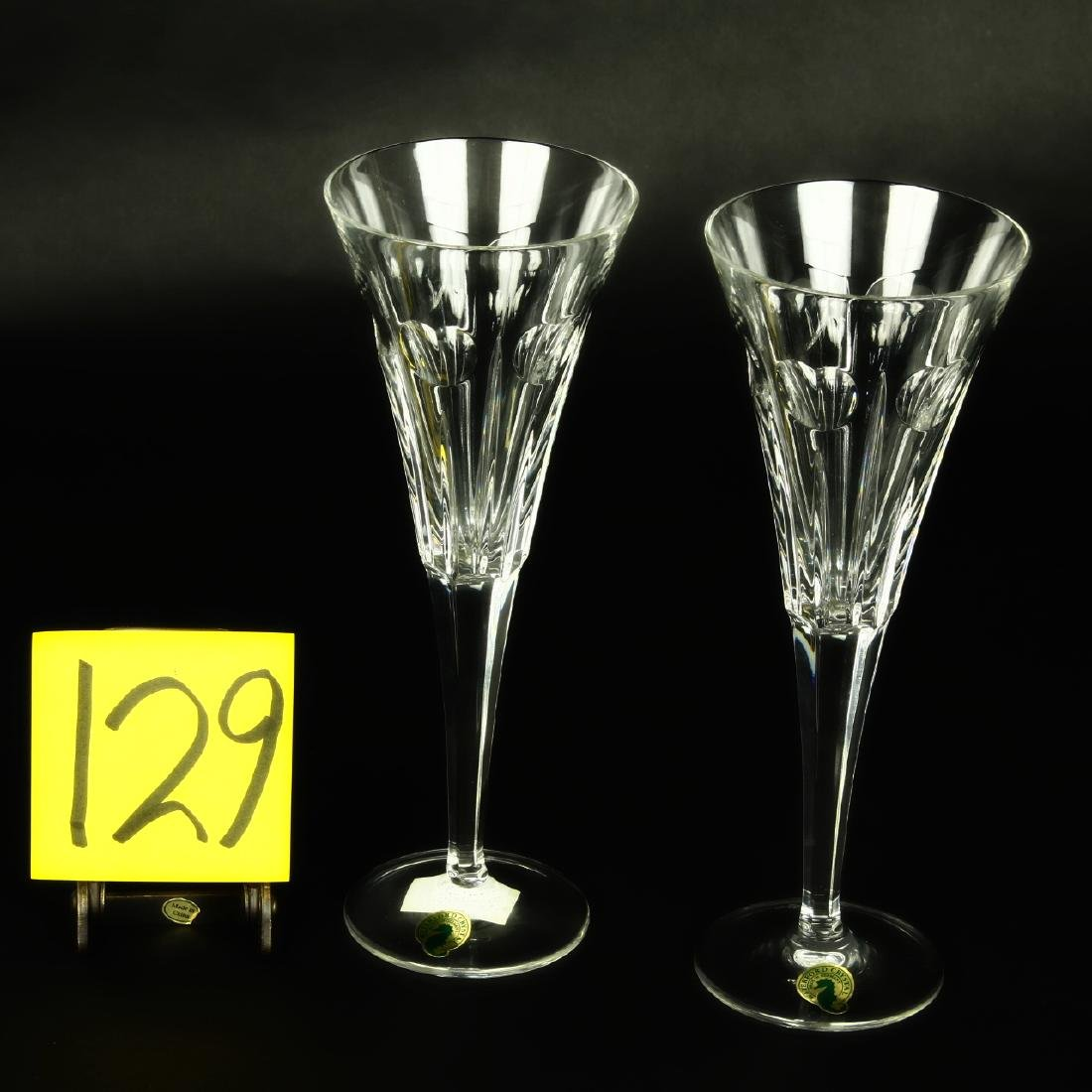 Waterford Crystal Prosperity Toasting Flutes Pair