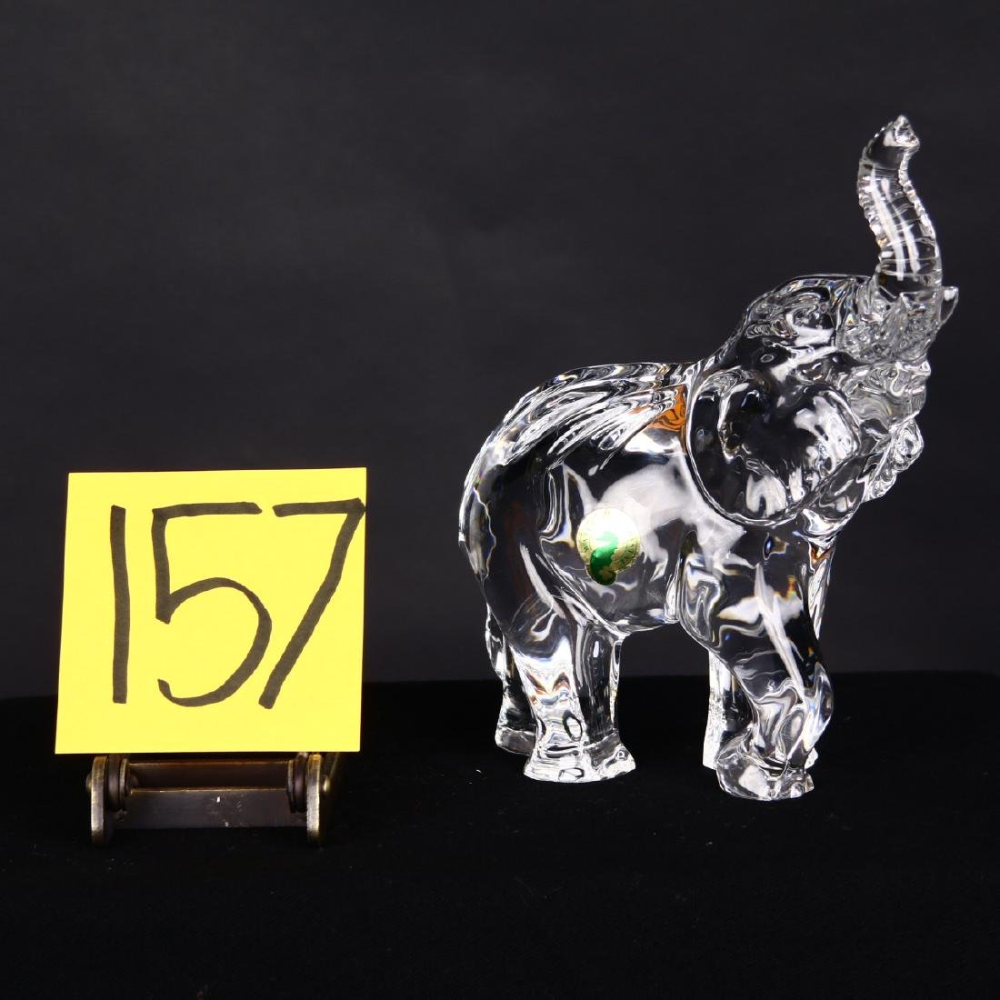 Waterford Crystal Elephant Figure Sculpture Trunk Up