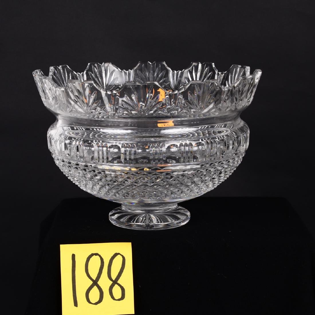 Large Waterford Crystal Center Footed Bowl