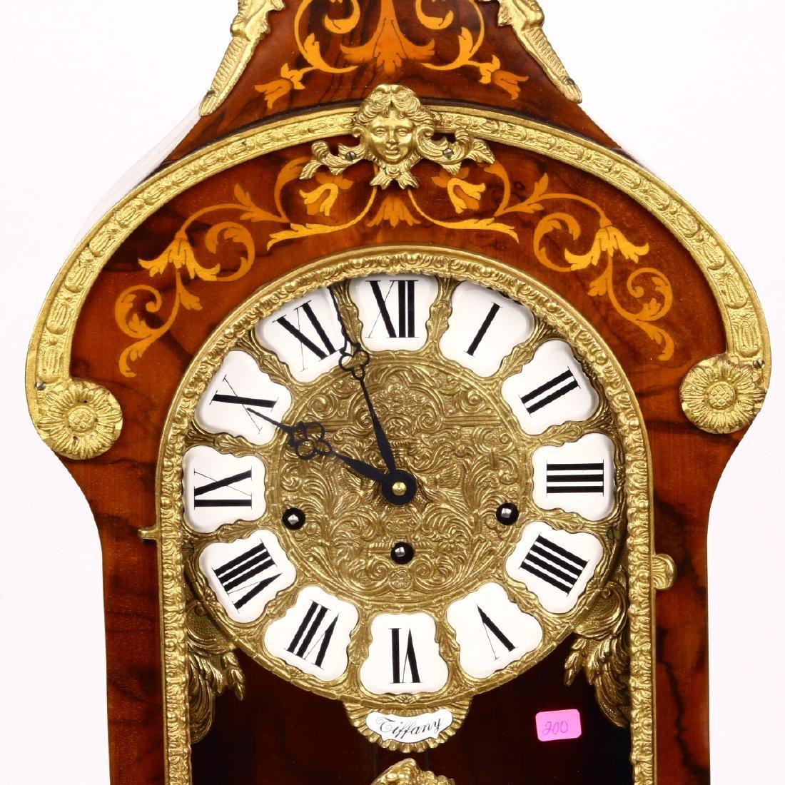 Tiffany Boulle Mantle Clock Brass Ormolu Cherubs Inlaid - 2