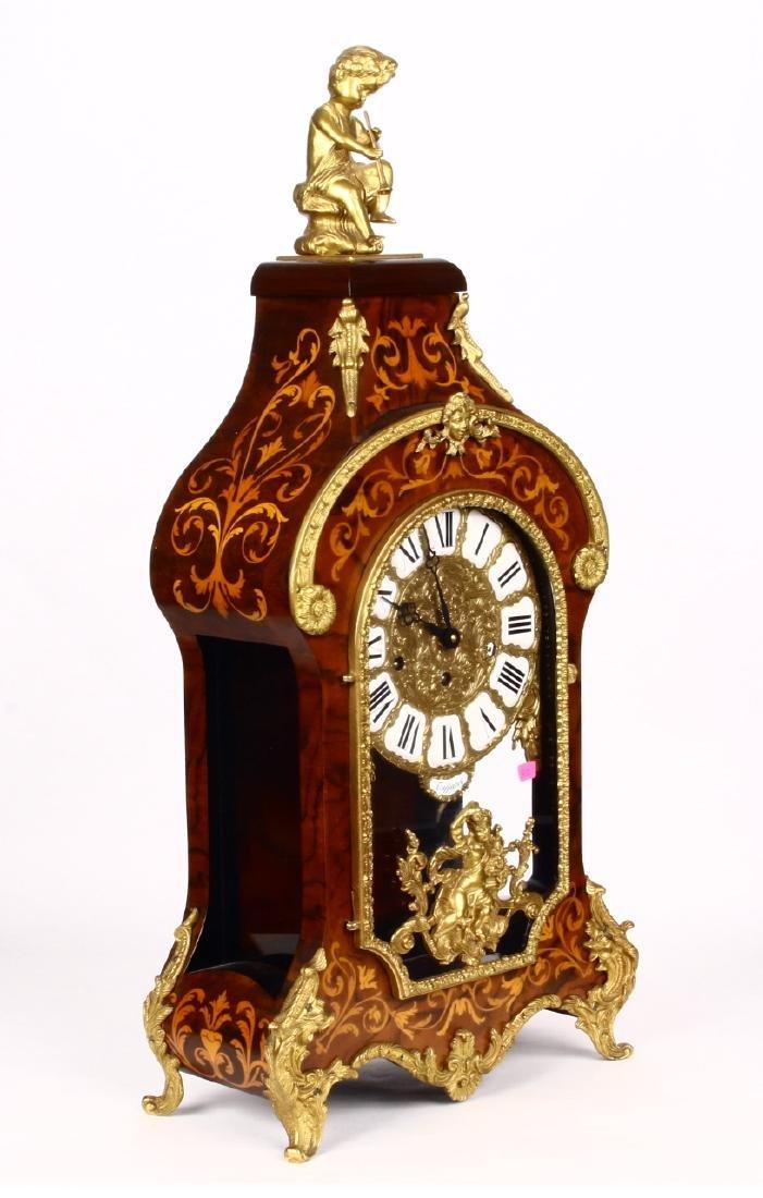 Tiffany Boulle Mantle Clock Brass Ormolu Cherubs Inlaid - 6