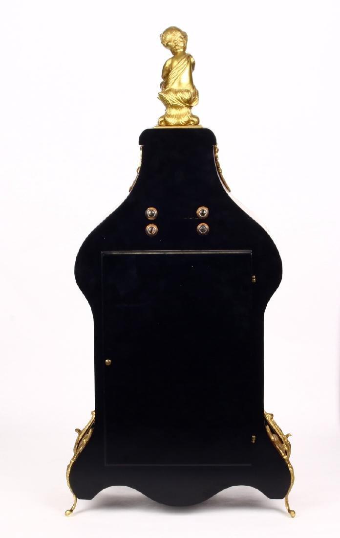 Tiffany Boulle Mantle Clock Brass Ormolu Cherubs Inlaid - 8