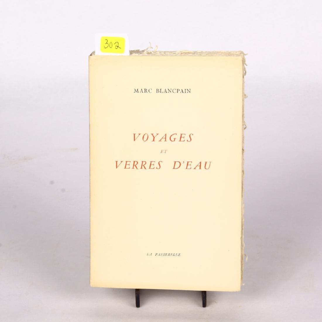 Voyages et Verres D'Eau Marc Blancpain 1952 French Book