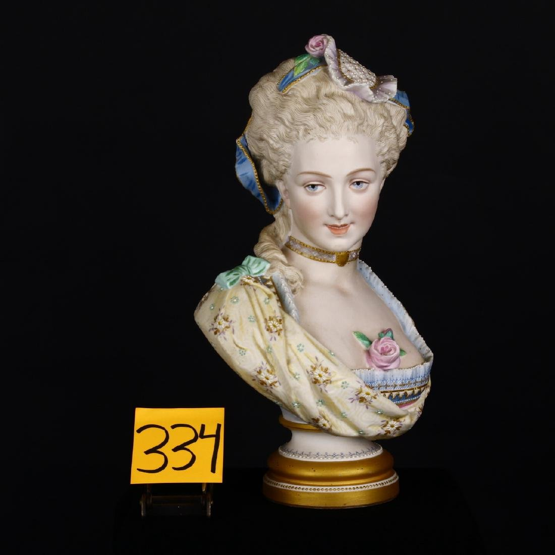 Fine Hand Painted Porcelain Victorian Lady Bust