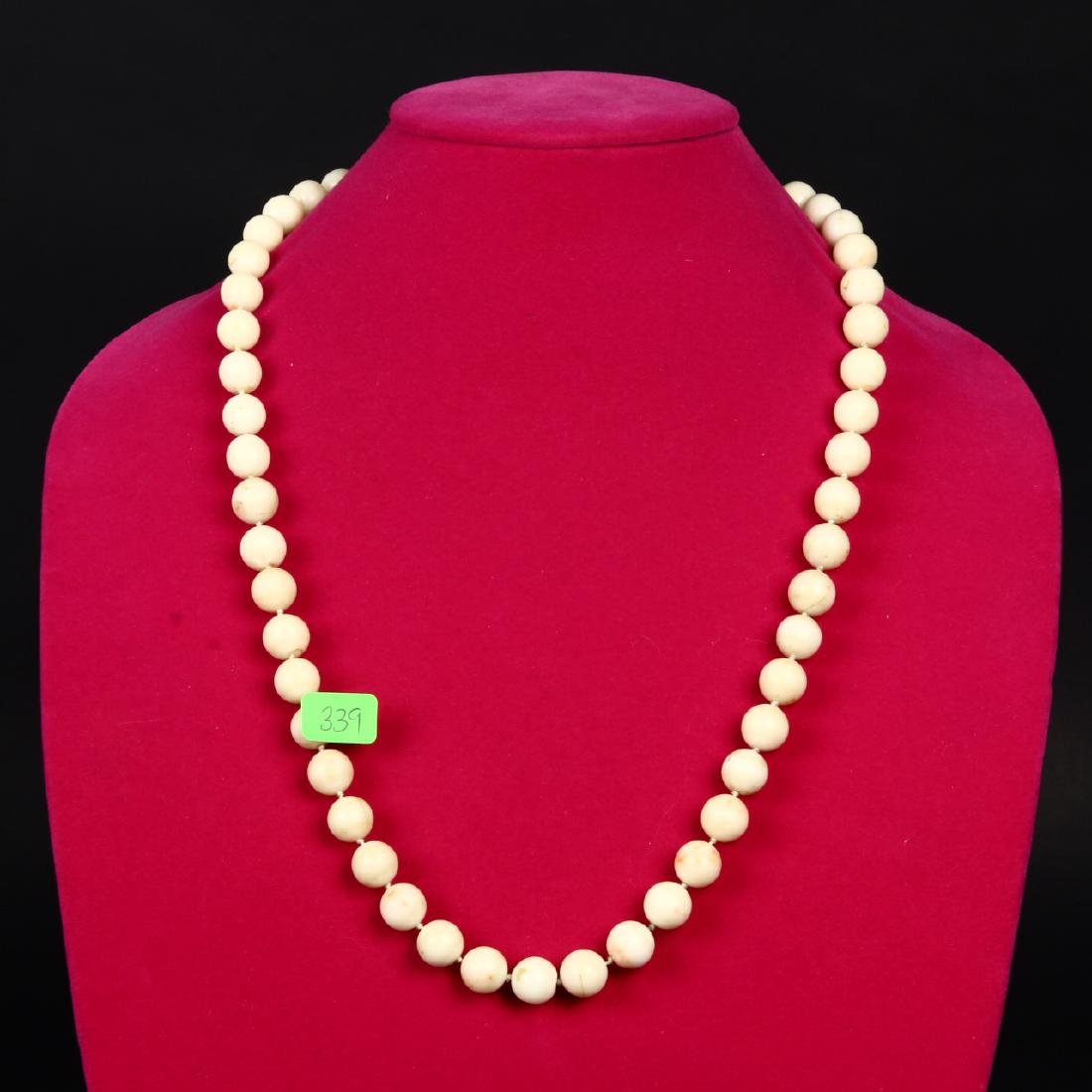 Angel Skin Coral Necklace 14K Gold White Peach - 3