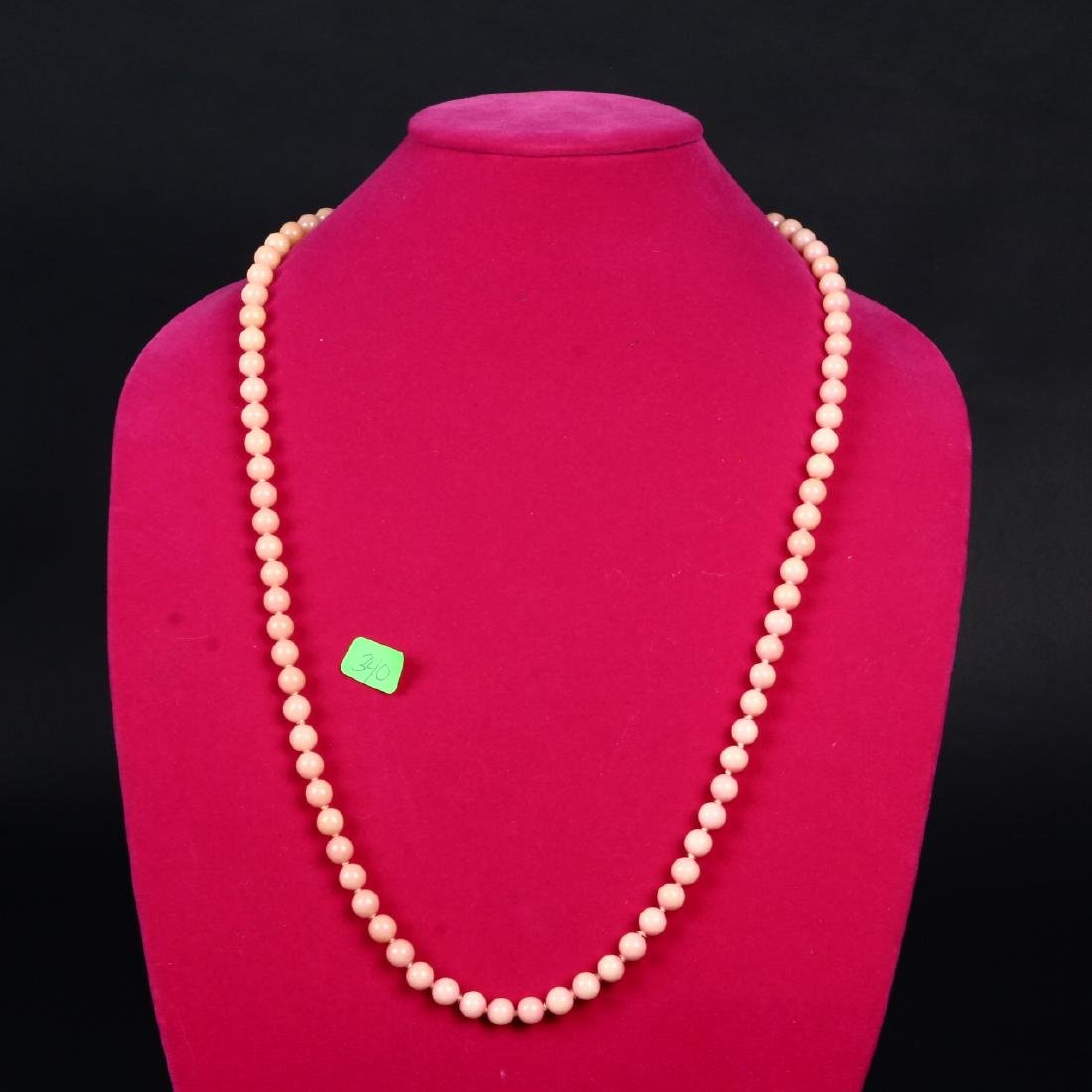 Angel Skin Coral Necklace Salmon Pink Peach Beads