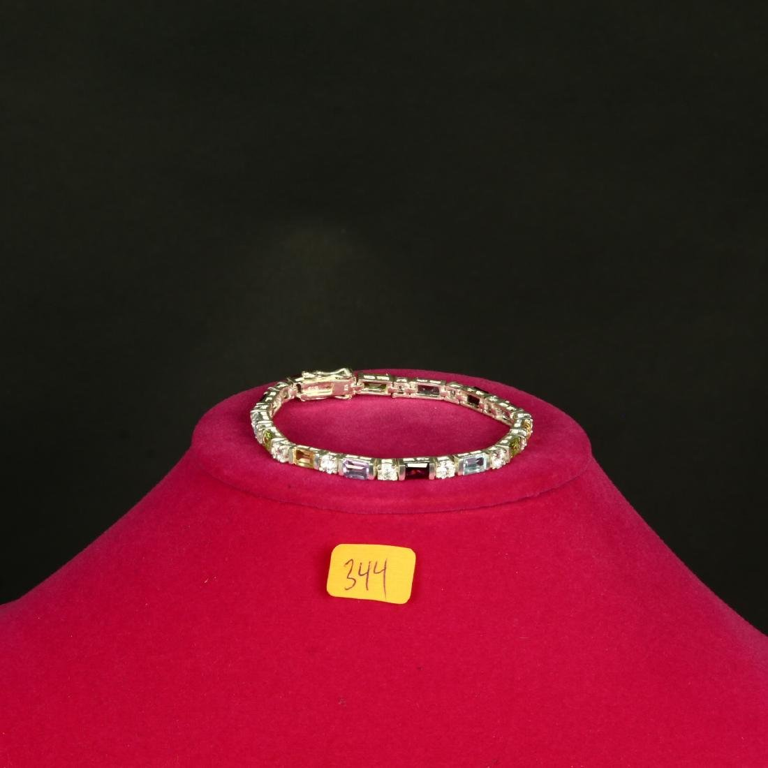Sterling Silver Multi Gemstone bracelet