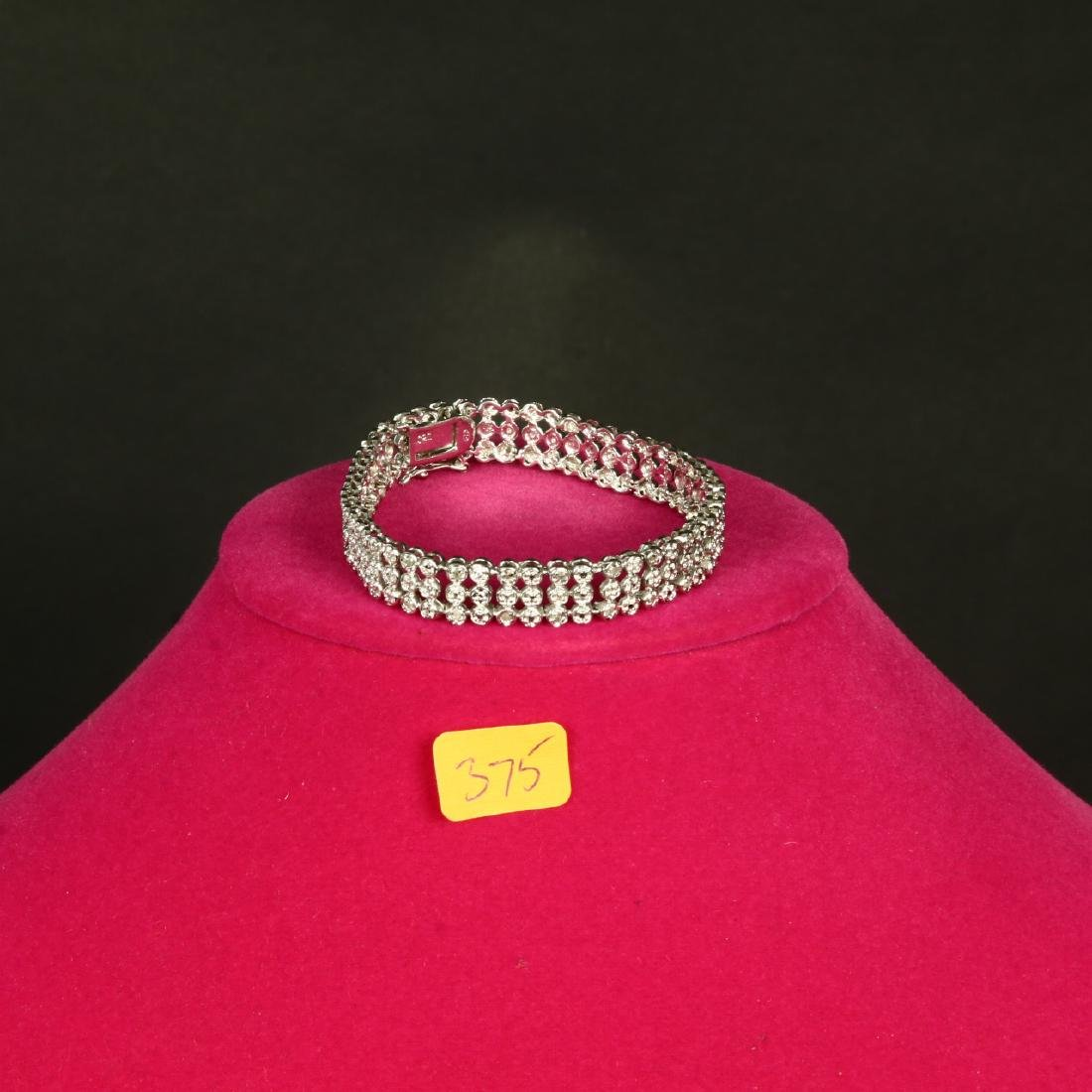 Sterling Silver Diamond Ladies Bracelet