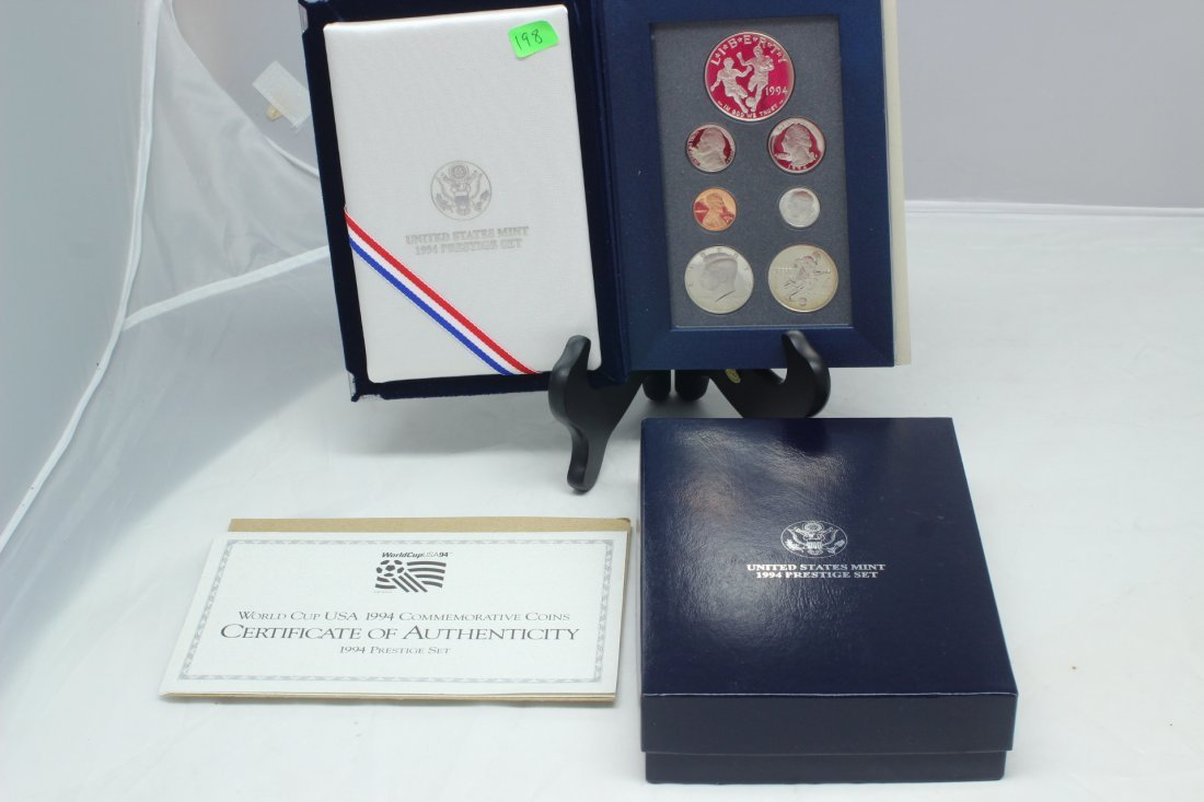 1994 US Mint Prestige Set World Cup USA Silver Dollar &