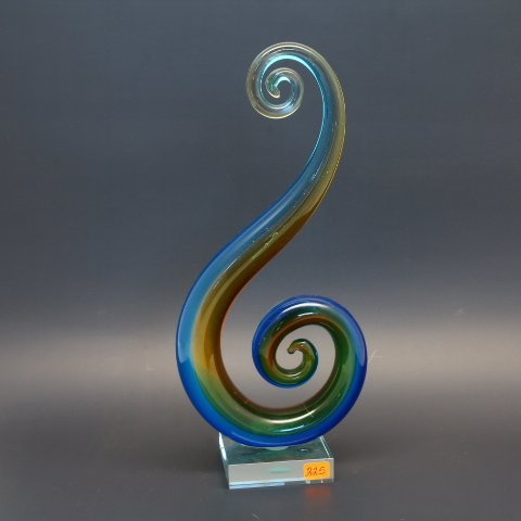 Modernist Free Form Murano Glass Abstract Spiral