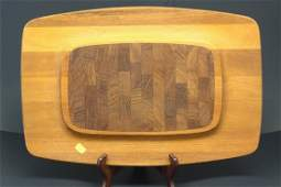 2 Dansk Mid Century Modern Teak Wood Cutting Serving