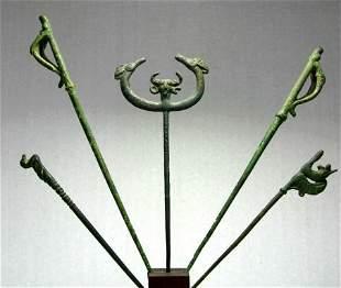 Ancient Luristan Bronze Pins Iron Age