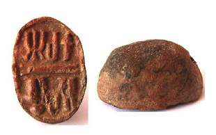 Ancient Egyptian Clay Scarab.
