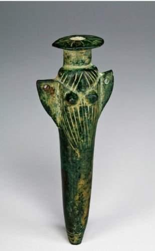 Luristan Bronze Female Votive Kohl Container