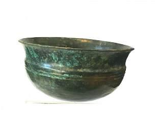 Ancient Luristan bronze Bowl .
