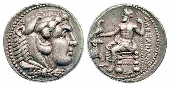 Greek Coin of KINGS of MACEDON. Alexander III