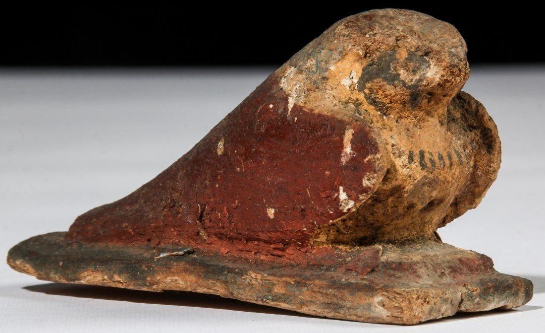 Ancient Egyptian Wood Falcon Horus.