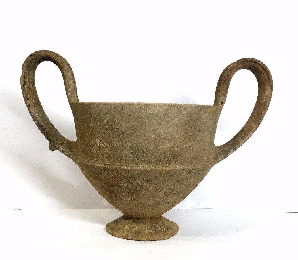 Large Ancient Greek Pottery Kantharos .