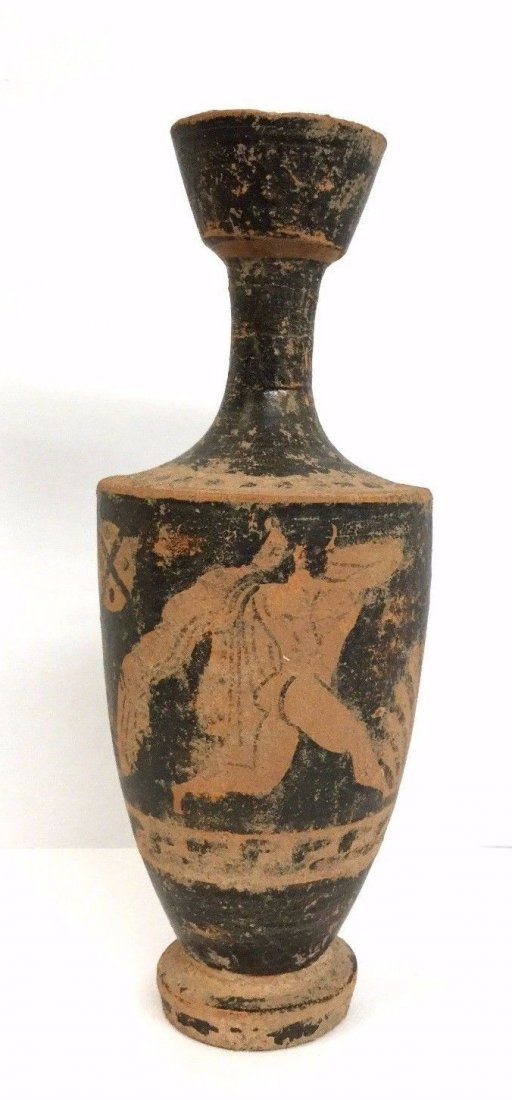 Ancient Greek black-figured lekythos .