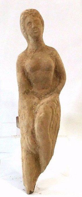 Large Roman terracotta statue of female .