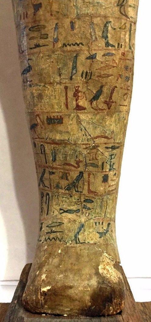 Ancient Egyptian Wood Ushabti. - 2