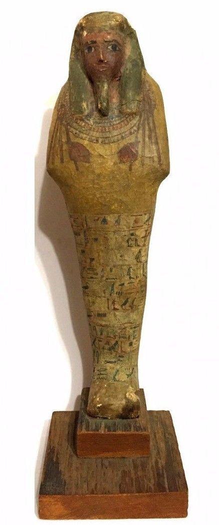Ancient Egyptian Wood Ushabti. - 3