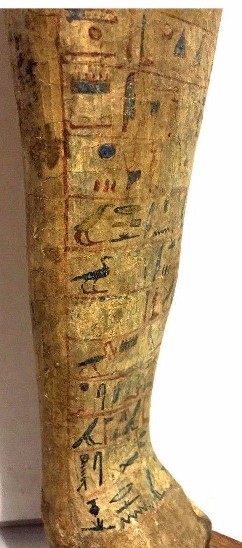 Ancient Egyptian Wood Ushabti. - 4