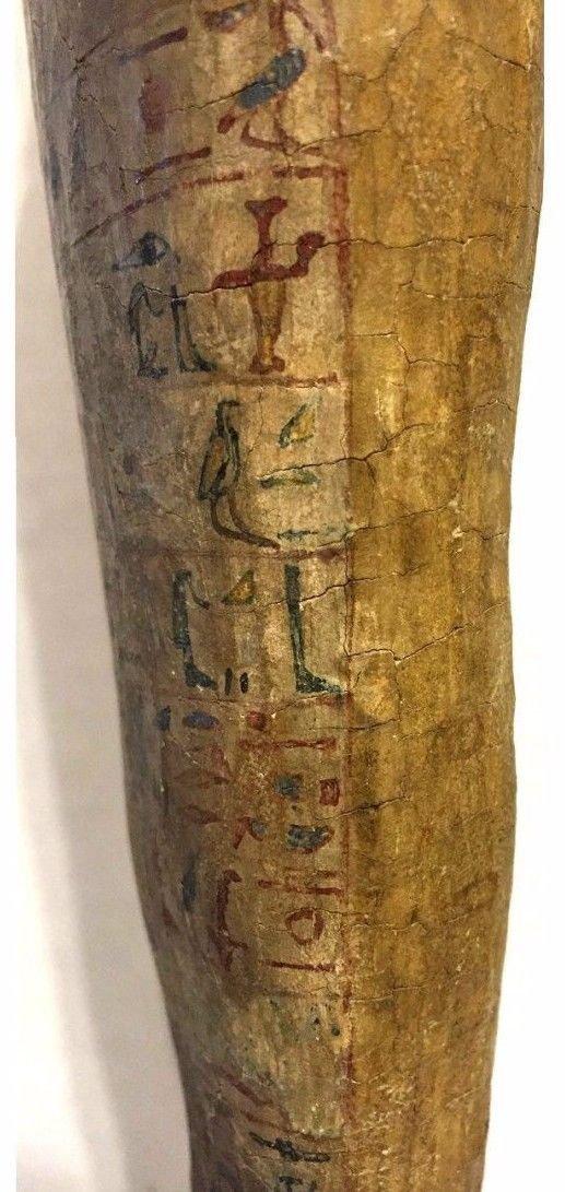 Ancient Egyptian Wood Ushabti. - 5
