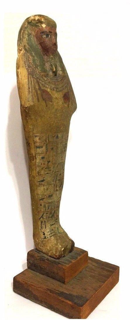 Ancient Egyptian Wood Ushabti. - 6
