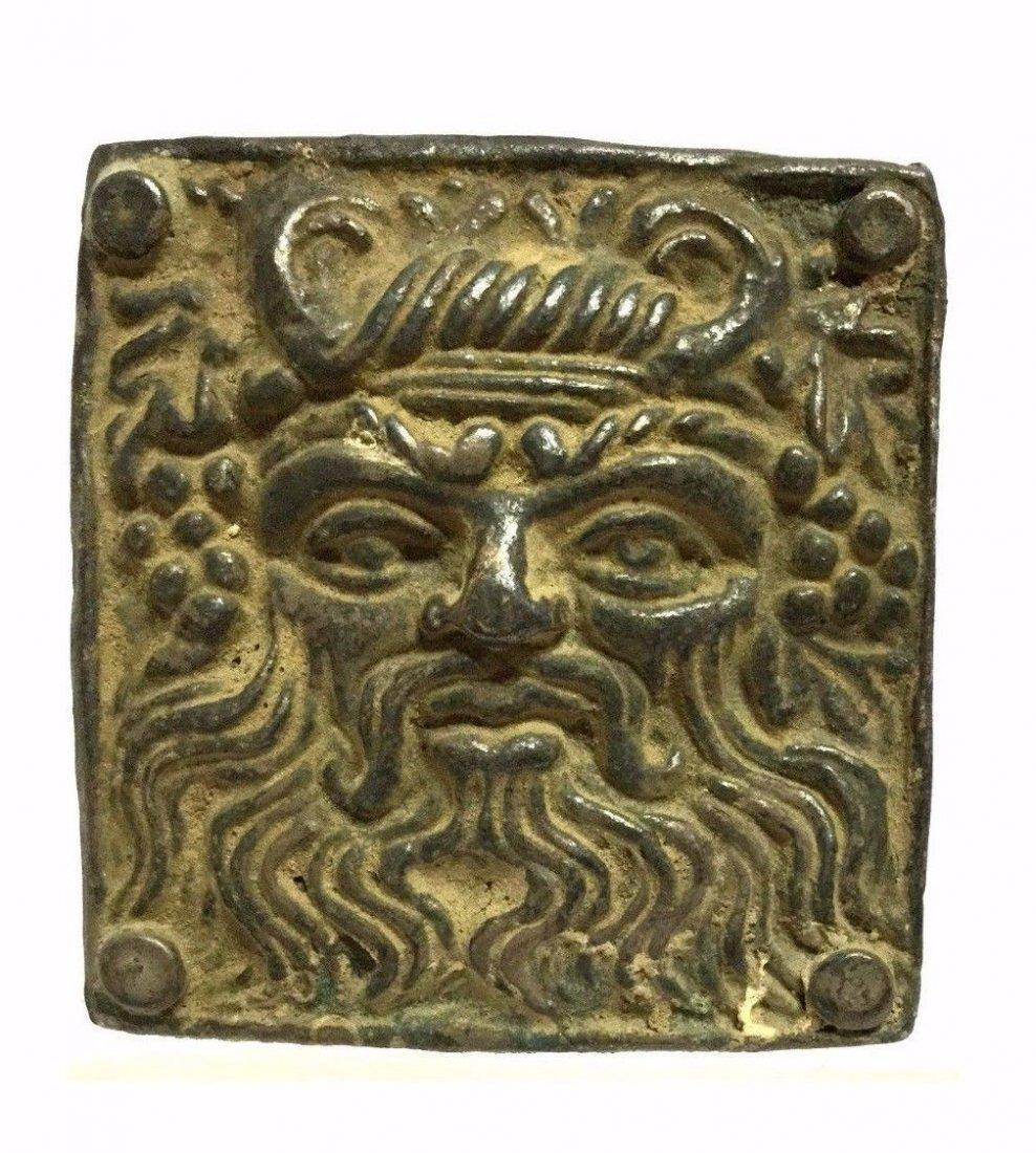 Ancient Greek Silver Buckle .