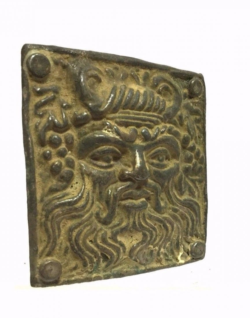 Ancient Greek Silver Buckle . - 2