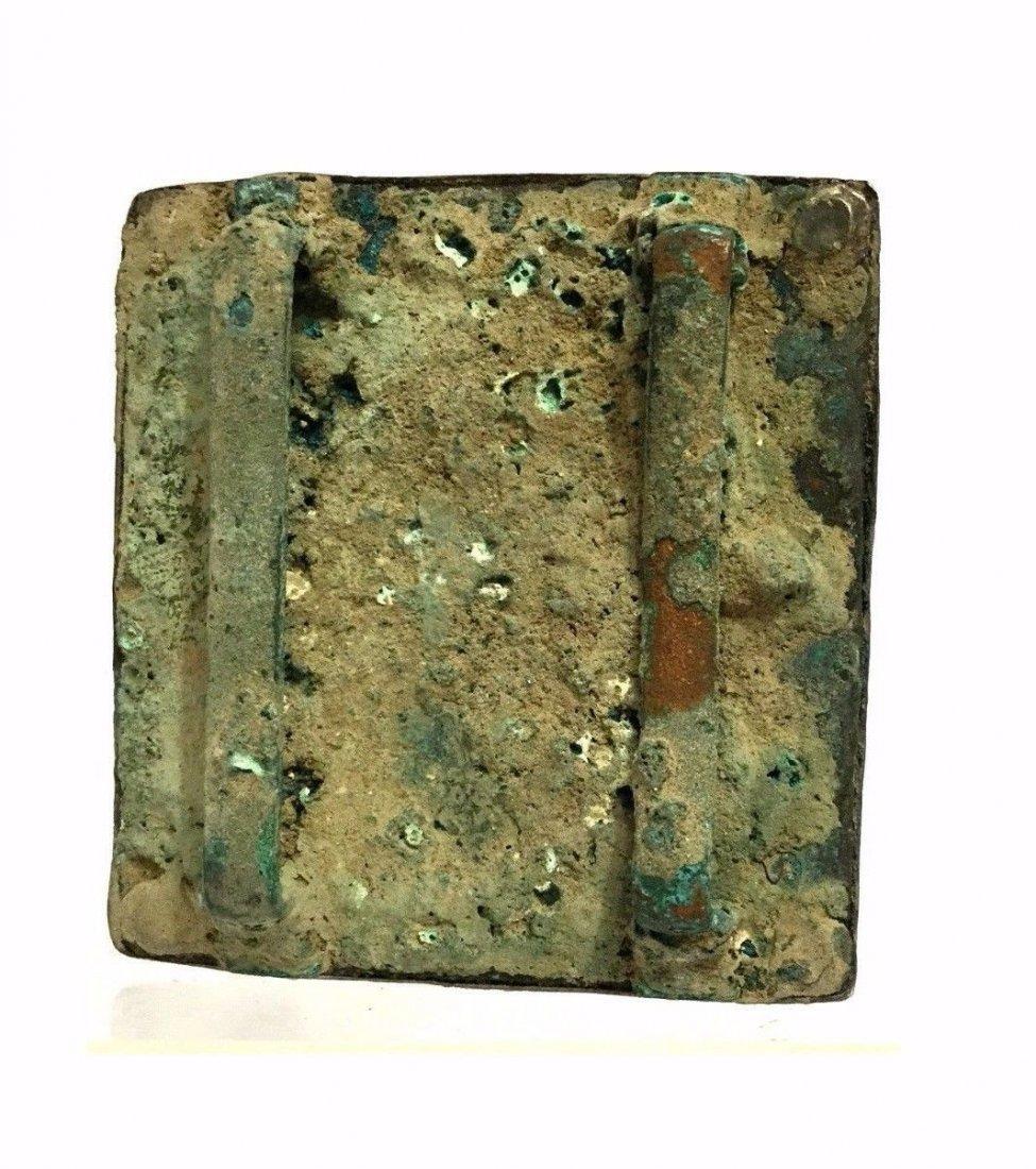 Ancient Greek Silver Buckle . - 4