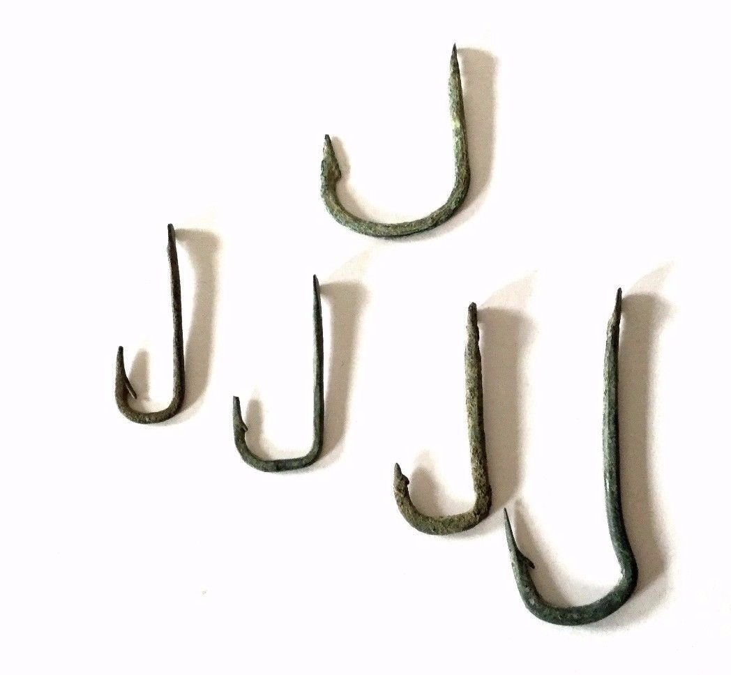 Ancient Roman Bronze Fish hooks