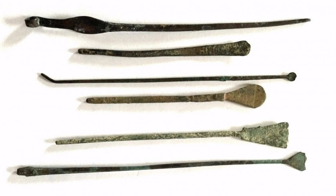Lot of 6 Ancient  Roman Bronze medical Instrument.
