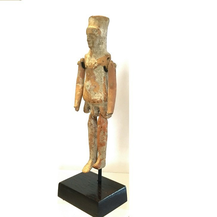Ancient Greek Boeotian Jointed doll. - 4