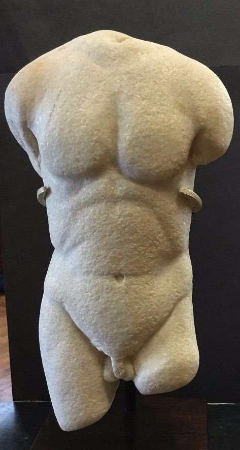 Ancient Greco -Roman  Torso of Apollo . - 5