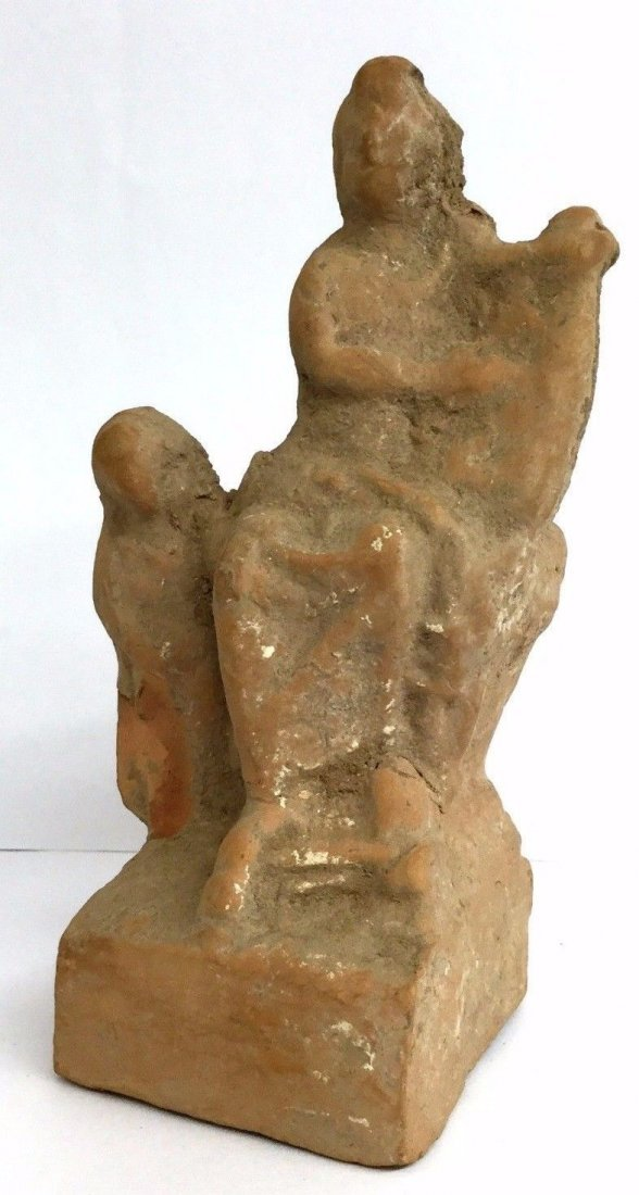 Ancient Roman Terracotta Statuette of a Seated Woman - 2