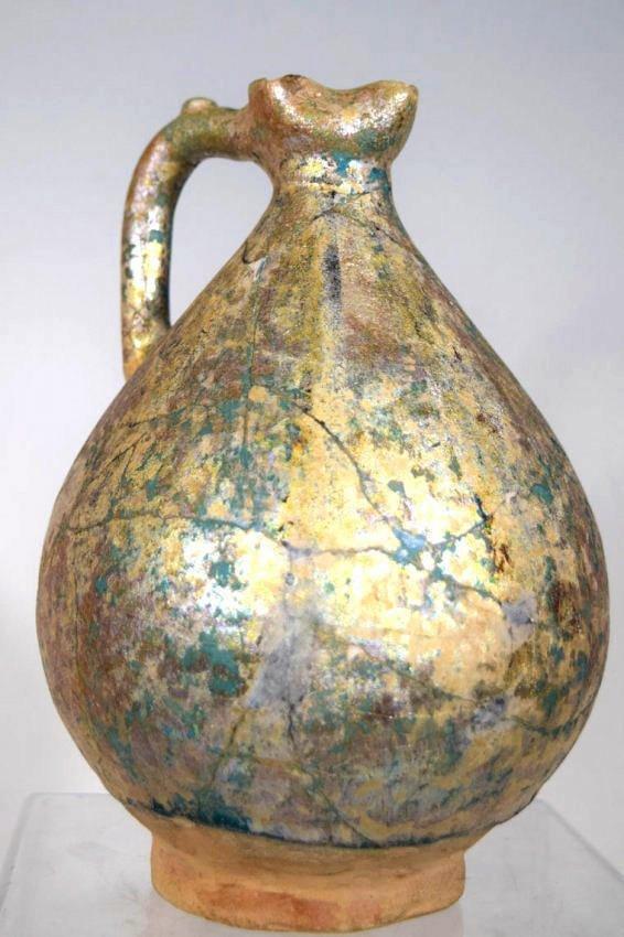 Islamic persian  Nishapur Ceramic Pitcher