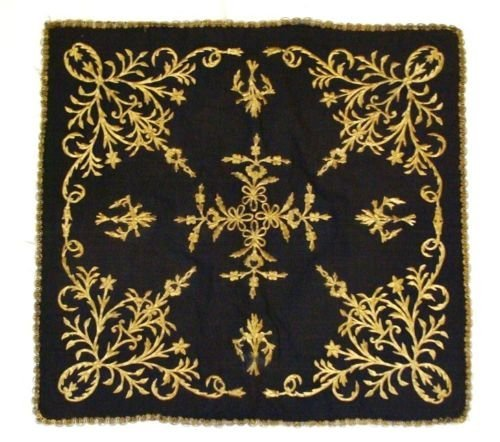 Antiques ottoman Turkish textile Gold embroidery . - 3