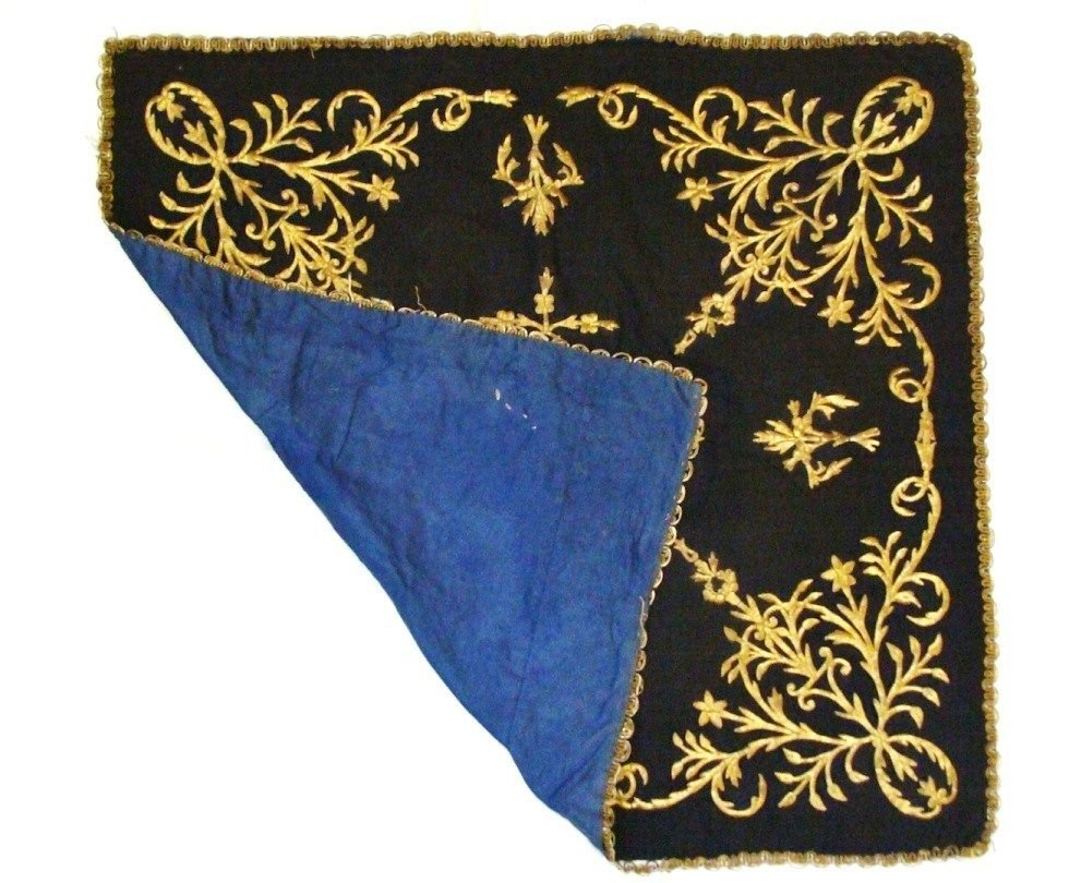 Antiques ottoman Turkish textile Gold embroidery . - 4