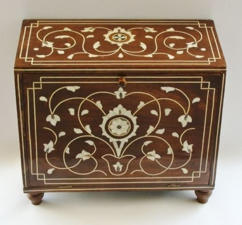 Islamic Ottoman Trunk  Inlaid with Mother-of-Pearl.