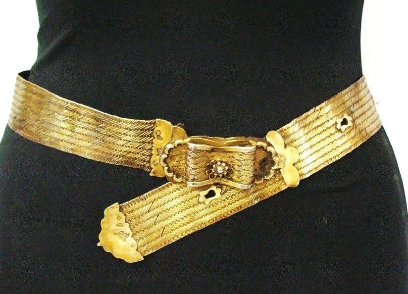 Islamic  ottoman silver Belt Gold plated.