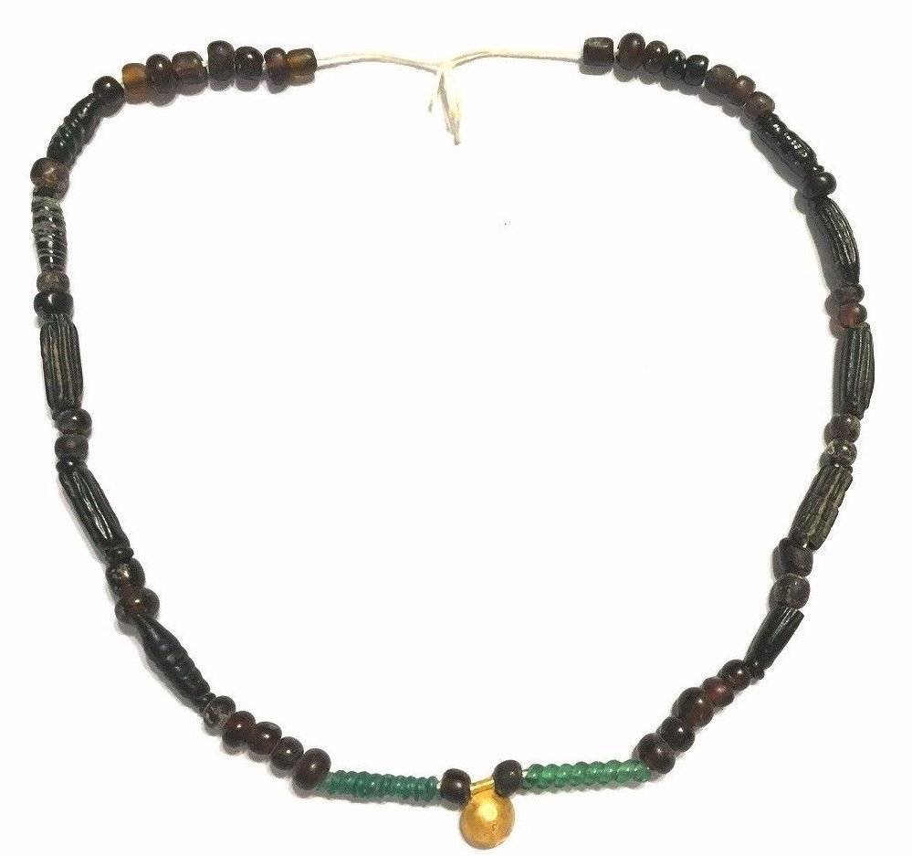 Ancient Roman strand glass beads Necklace.