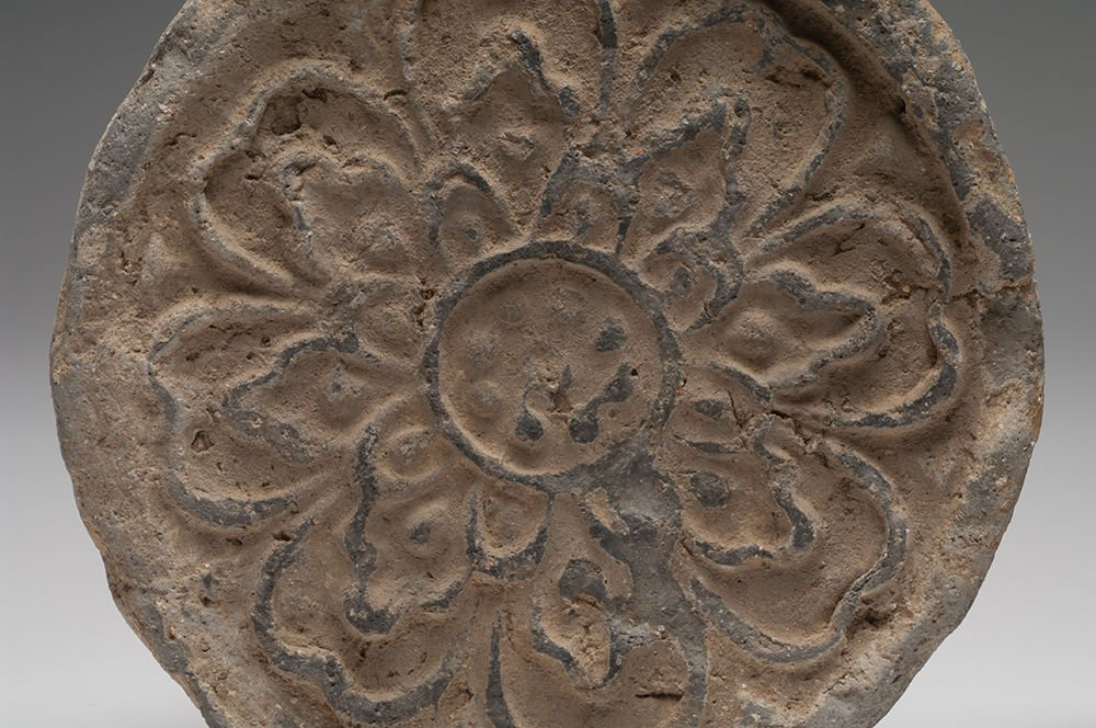 Ancient Islamic Floral Pottery Elements . - 4