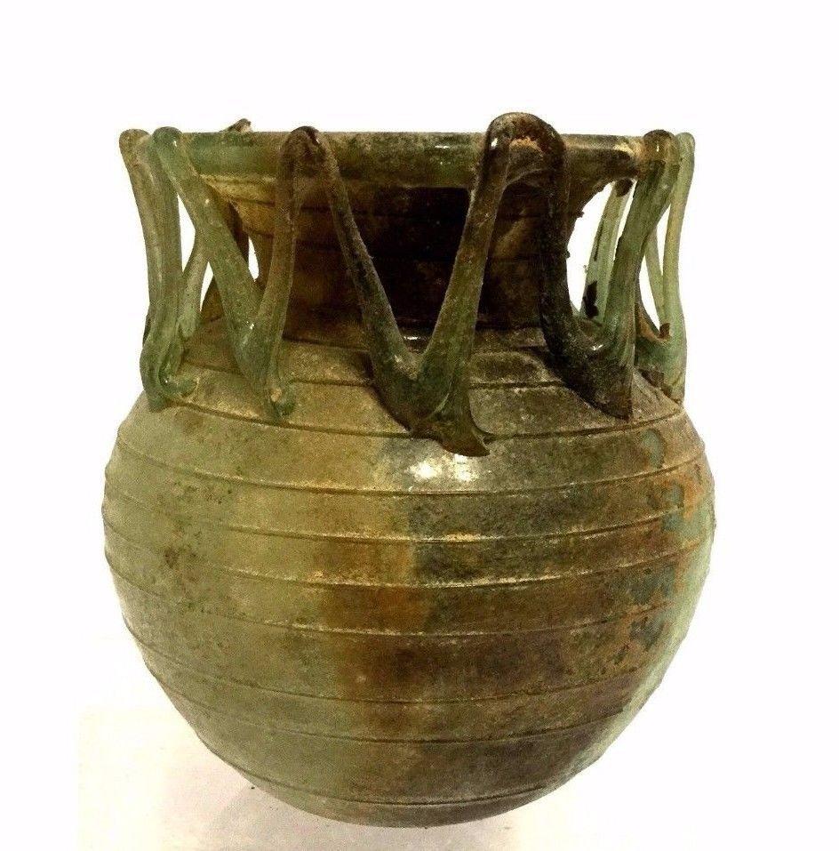 Ancient Roman Glass Jar.
