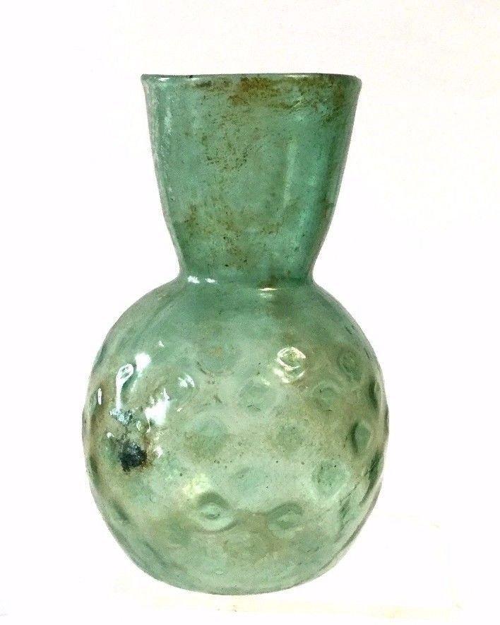 Ancient Roman Glass Jar 100AD - 4