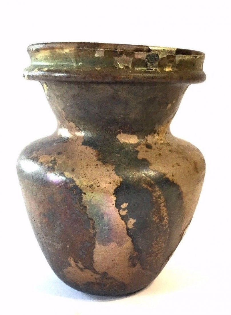 Ancient Roman Glass Jar 100AD .