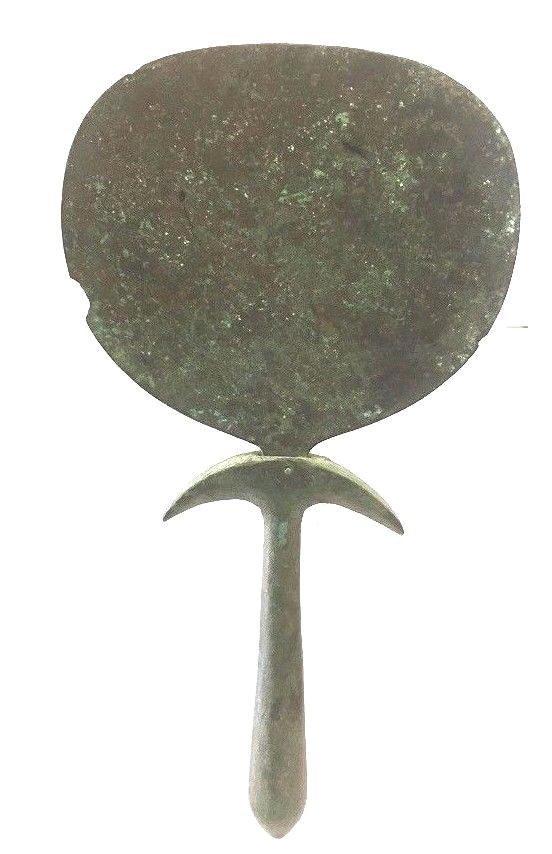 Ancient  Egyptian bronze mirror . - 3