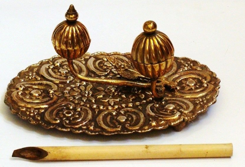 Antique Islamic Ottoman Inkwell . - 5