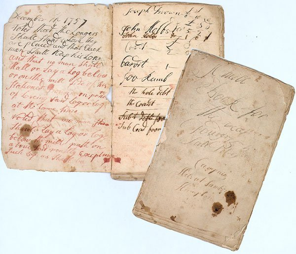 3: FASCINATING EARLY SAW MILL JOURNAL FROM NEW HAMPSHIR